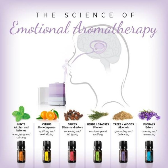 met AROMATHERAPIE emotioneel in balans
